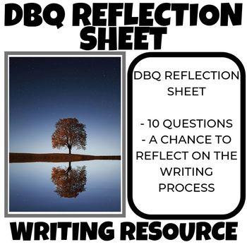 DBQ Reflection Sheet Common Core Writing