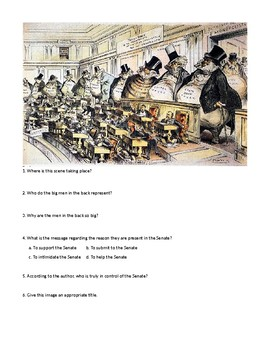 DBQ's: The Gilded Age, Trustbusting and Unionization Cartoon Analysis Bundle