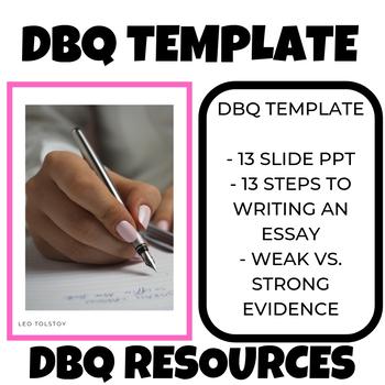 DBQ template sheet and DBQ Resources