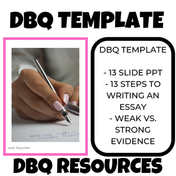 DBQ template sheet and DBQ Resources