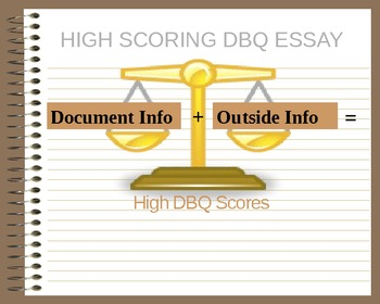 DBQ's a Student's Best Friend--How To Answer a Document-Based Question