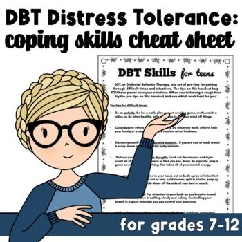 DBT Coping Skills Handout for Teens: Distress Tolerance