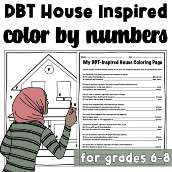 DBT House Inspired Color By Number Worksheet