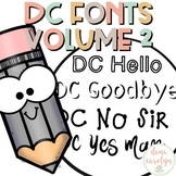 DC Fonts: Volume 2 Mind Your Manners {Personal and Commerc