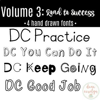 DC Fonts: Volume 3 Road to Success {Personal and Commercial Use}