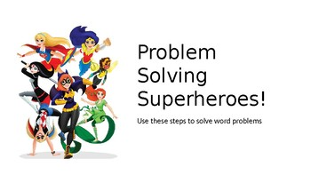 DC Super Hero Girls Double Addition ( No Trade) Guided Practice PPT