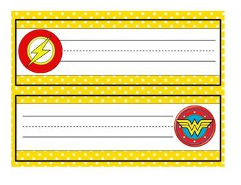 DC Superhero Name Plate