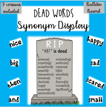DEAD WORDS - Synonym poster set - uplevelling