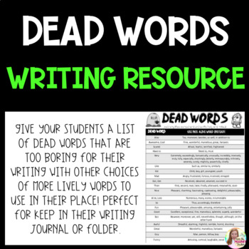 DEAD WORDS Writing Resource