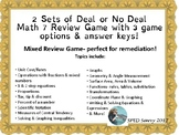 DEAL OR NO DEAL Math 7 Remediation SOL Review Game Middle
