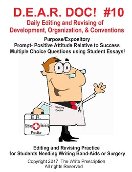 DEAR DOC #10  Daily Editing and Revising- Development Organization & Conventions