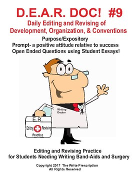 DEAR DOC # 9  Daily Editing and Revising- Development Organization & Conventions