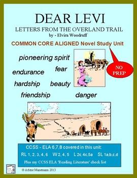 DEAR LEVI: Common Core Aligned Novel Study