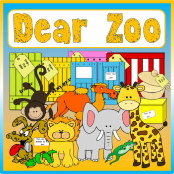 DEAR ZOO STORY RESOURCES AND ZOO ROLE PLAY EYFS KS 1-2 ENGLISH ANIMALS
