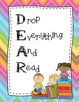 DEAR and DEAD posters (Drop Everything And Read) & (Drop Everything And Draw)