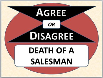 DEATH OF A SALESMAN - Agree or Disagree Pre-reading Activity