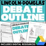 DEBATE TEMPLATE Debate Graphic Organizer Digital Worksheet