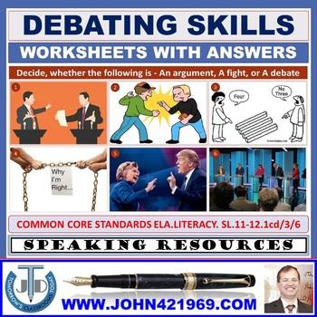 DEBATING SKILLS WORKSHEETS AND ANSWERS