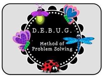 DEBUG Method of problem solving for kids