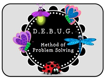 DEBUG Method of problem solving for kids