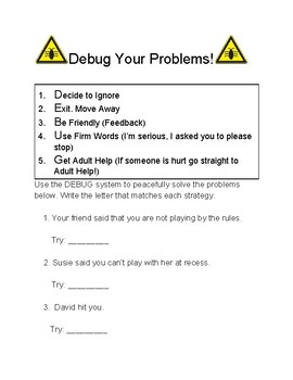 DEBUG your problems