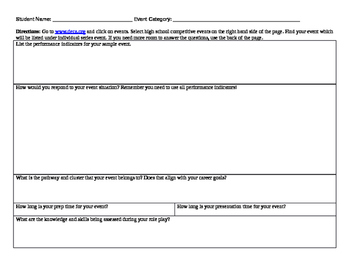 DECA Role Play Research Graphic Organizer