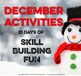 DECEMBER ACTIVITIES – KINDERGARTEN - No Prep Packet!