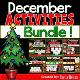 Christmas and December BUNDLE! Math, Writing, Labeling, Build the Sentence