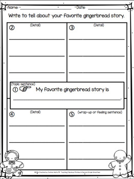 DECEMBER Class Books and 4-Square Writing Organizers for Beginning Writers K-2
