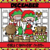 DECEMBER Daily Calendar Math for Kinders
