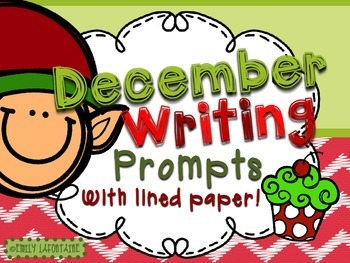 DECEMBER Writing Prompts (30 count) - task cards and posters *Christmas*
