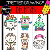 DECEMBER Directed Drawings: Christmas {Made by Creative Clips Clipart}