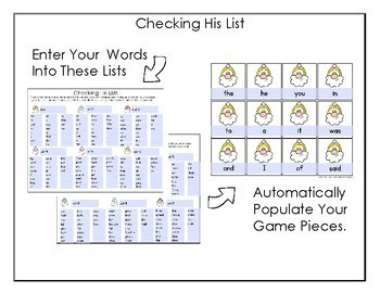 DECEMBER EDITABLE -Hide and Seek 12 Different Sight Word Sets