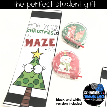 DECEMBER HOLIDAY BOOKMARKS student gift