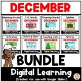 DECEMBER - Literacy & Math Fun {Google Slides™/Classroom™}