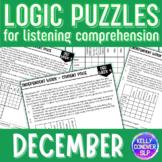 DECEMBER Logic Puzzles for Listening Comprehension for SLPs