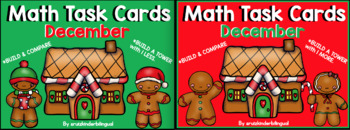 DECEMBER Math Task Cards BUNDLE ~ more & less~