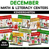 DECEMBER Math & Literacy Centers Packet- Christmas theme