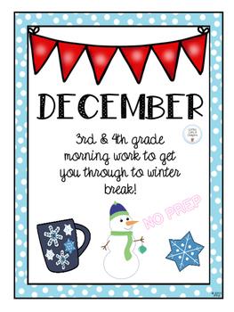 DECEMBER Morning Work- 3rd/4th grade