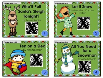 DECEMBER QR Code stories - 10 stories for December ~Great for centers!