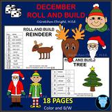 DECEMBER ROLL AND BUILD - REINDEER, TREE, SANTA, ELF