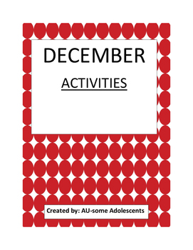 DECEMBER- Re-usable Activities