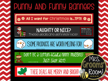 DECEMBER'S TPT BANNERS FOR TPT SELLERS