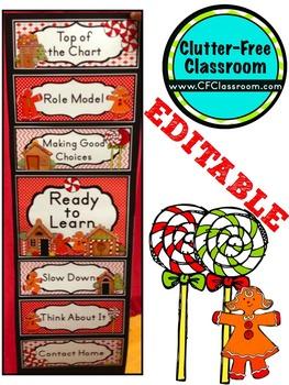 DECEMBER THEME CLIP CHART / BEHAVIOR PLAN-classroom theme {printables}