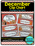 DECEMBER THEME CLIP CHART / BEHAVIOR PLAN-classroom theme