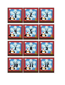 DECEMBER THEMED CALENDAR PIECES to accentuate your room decor.