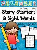 DECEMBER MATH & WRITING - Telling Time and Journal Prompts with Word Bank