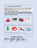 DECEMBER WORD FUN: A VOCABULARY MATCH ACTIVITY: ESL/ SPANISH K-2
