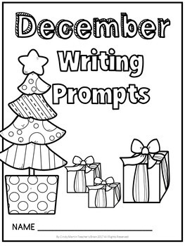 DECEMBER Writing Prompts Journal