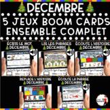 DÉCEMBRE French BOOM Cards - BUNDLE 5 Jeux (DÉCEMBRE)